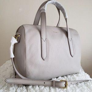 NWT Fossil Sydney Grey Handbag Purse Satchel